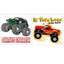 grave digger monster truck birthday party supplies monster jam 3d tattoos birthdayexpress com