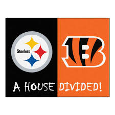 Nfl Area Rugs Fanmats Nfl Steelers Bengals Black House Divided 2 Ft 10 In X