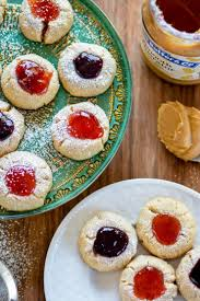 peanut butter and jelly thumbprint cookies recipe chefdehome com