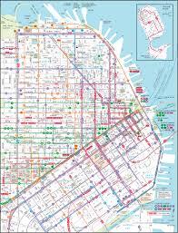 san francisco map downtown downtown san francisco transit map san francisco ca us mappery