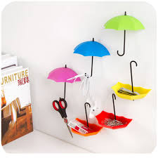 adhesive wall hooks free nail glue umbrella shape wall hooks three containers small