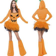 Pumpkin Halloween Costume Aliexpress Com Buy 2017 New Yellow Pumpkin Halloween Dress