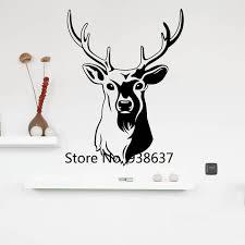 Deer Wall Decor Online Shop Stags Head Wall Stickers Home Decor Living Room Deer