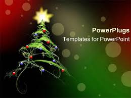 powerpoint template fantasy beautiful green christmas tree with