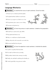 nouns pronouns verbs adverbs adjectives worksheet free worksheets