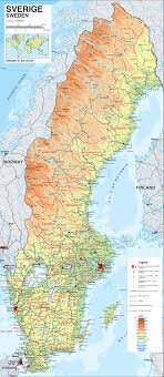 map of sweden maps of sweden detailed map of sweden in tourist map