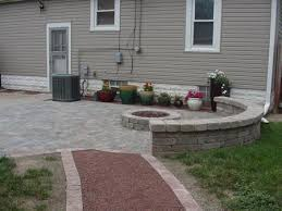 Belgard Fire Pit by Back View Fire Pit With Belgard Weston Sheffield Seating Wall