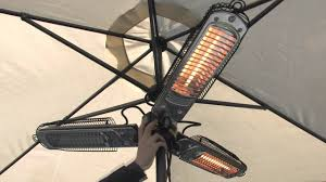 Outdoor Patio Electric Heaters by Umbrella Patio Heater Youtube