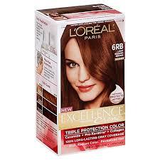 light reddish brown color l oreal paris excellence crème triple protection hair color in 6rb