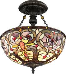Stained Glass Ceiling Light And Stained Glass Ceiling Lights Discount Lighting