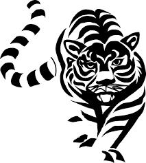 tiger black and white clip at clker com vector clip
