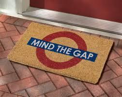 Unique Doormats Mind The Gap Doormat Bbc Shop