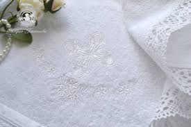 baptism accessories buy baptismal towel viennese garden on livemaster online shop