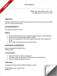 Sample Resume Of Accountant by Accounting Resume Sample