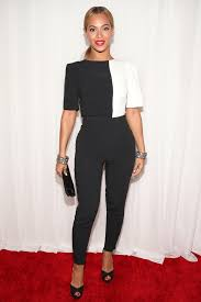 black and white jumpsuit for beyoncé at the 2013 grammys pictures popsugar