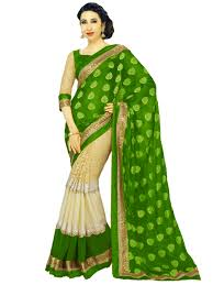 pista green color green sarees online buy green color saree with golden border
