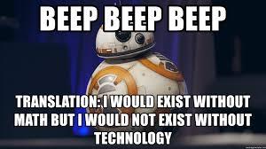 Meme Translation - beep beep beep translation i would exist without math but i would