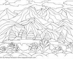 step colourful landscape drawing for kids scenery for kids with