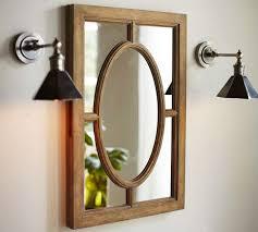Wood Frames For Bathroom Mirrors - bathroom natural wood frame oval medicine cabinet for bathroom
