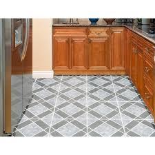 Self Adhesive Kitchen Floor Tiles Achim Nexus Light U0026 Dark Blue Diamond Pattern 12x12 Self Adhesive