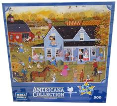 americana collection thanksgiving jigsaw puzzle