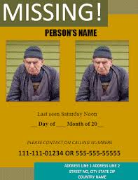 missing person poster template formsword word templates