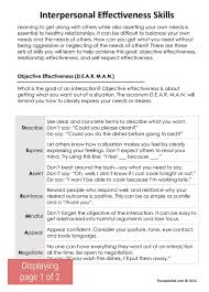 dbt interpersonal effectiveness skills worksheet therapist aid