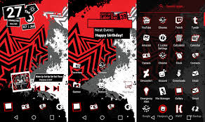 clock themes for android mobile persona 5 android theme tutorial in the desc by ape1ron on
