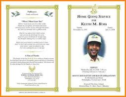 funeral programs templates free 5 order of service for a funeral pa free invoice letter
