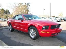 convertible mustang 2007 torch red ford mustang v6 deluxe convertible 25537988