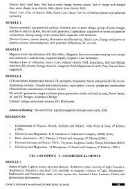 Example Of Summary In Resume by Five Year Integrated Msc Degree Course In Photonics