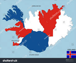 Iceland World Map Very Big Size Political Map Iceland Stock Illustration 100038125
