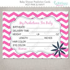 predictions for baby printable baby shower cards in pink