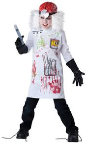 Halloween Zombie Costume Kids Mad Scientist Zombie Costume U2013 Doctor Costumes Mutant Faces