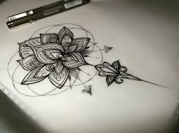 Simple Lotus Flower Drawing - best 20 lotus flower drawings ideas on pinterest lotus tattoo