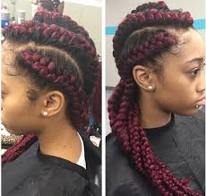 red cornrow braided hair red cornrow braids with weave braids pinterest cornrow locs