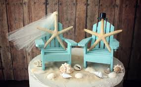 ivory bride adirondack chair wedding cake topper miniature beach