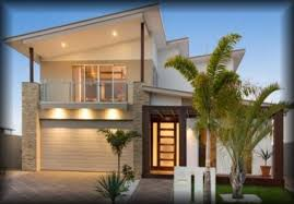stunnign cream two level home design with dazzling lights part of