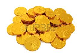 hanukkah chocolate coins chocolate coins stock photos royalty free business images