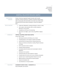 hospital resume exles hospital resume exles volunteer resume template best resume