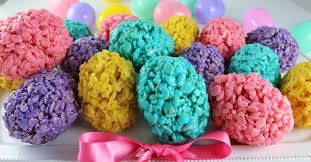 Easter Egg Decorating Rice by Rice Krispie Easter Eggs Two Sisters Crafting