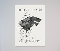 house stark poster watercolour print wall art giclee poster