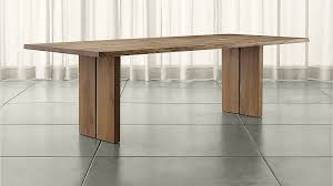 White And Oak Dining Table Dakota Dining Tables Crate And Barrel