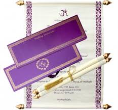 indian wedding scroll invitations shubhankar scroll wedding cards invitations with indian wedding