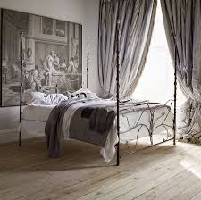 bedroom nice classic bedroom design with black wrought metal bed