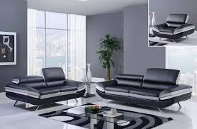 leather livingroom sets black and gray bonded leather sofa set with adjustable headrest