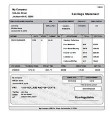 6 free pay stub templates for download and use