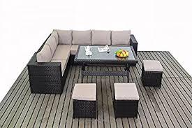 Garden Sofa Dining Set Kingston Garden Furniture Corner Sofa Dining Table Set Amazon Co