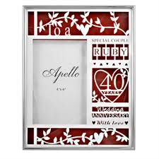 40th wedding anniversary gift 40th wedding anniversary frame anniversary gifts nz wedding