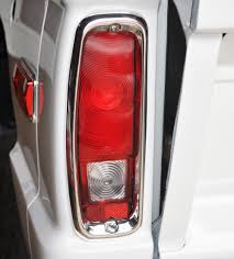 early bronco tail light wiring 69 01322 tail light chrome left for early bronco body chrome and
